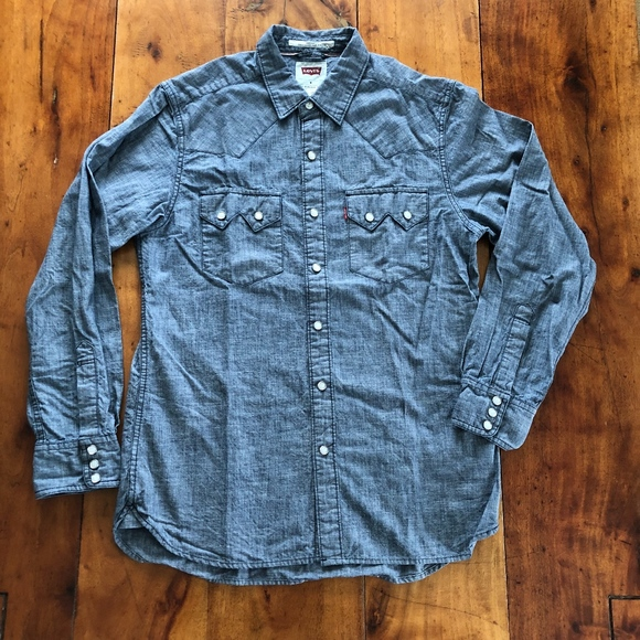 0f82d885215 Levi s Other - Levi s Sawtooth Western Denim Shirt Pearl ...